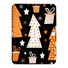 Orange Playful Xmas Samsung Galaxy Tab 4 (10 1 ) Hardshell Case  by Valentinaart