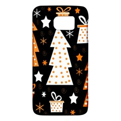 Orange Playful Xmas Galaxy S6 by Valentinaart