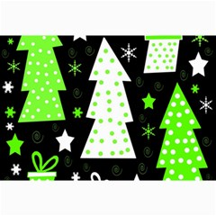 Green Playful Xmas Collage Prints