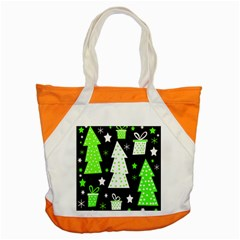 Green Playful Xmas Accent Tote Bag by Valentinaart