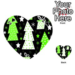 Green Playful Xmas Playing Cards 54 (heart)  by Valentinaart