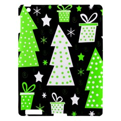 Green Playful Xmas Apple Ipad 3/4 Hardshell Case by Valentinaart