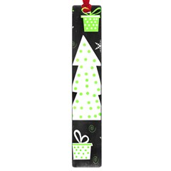 Green Playful Xmas Large Book Marks by Valentinaart