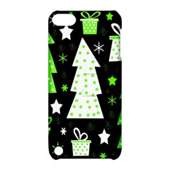 Green Playful Xmas Apple Ipod Touch 5 Hardshell Case With Stand by Valentinaart