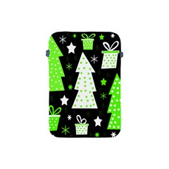 Green Playful Xmas Apple Ipad Mini Protective Soft Cases by Valentinaart