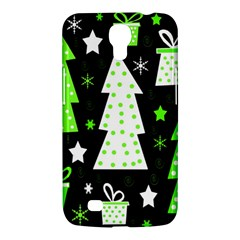 Green Playful Xmas Samsung Galaxy Mega 6 3  I9200 Hardshell Case by Valentinaart