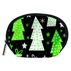 Green Playful Xmas Accessory Pouches (medium)