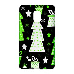 Green Playful Xmas Galaxy Note Edge by Valentinaart