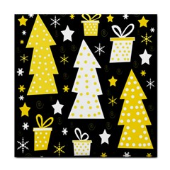 Yellow Playful Xmas Tile Coasters by Valentinaart