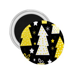Yellow Playful Xmas 2 25  Magnets by Valentinaart