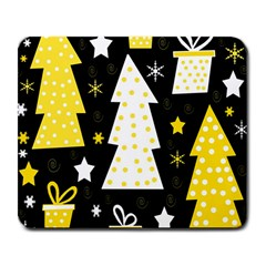 Yellow Playful Xmas Large Mousepads by Valentinaart