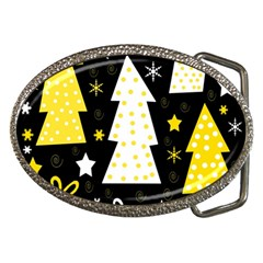 Yellow Playful Xmas Belt Buckles by Valentinaart