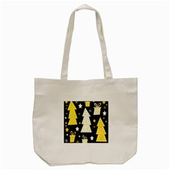 Yellow Playful Xmas Tote Bag (cream) by Valentinaart
