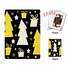 Yellow Playful Xmas Playing Card by Valentinaart