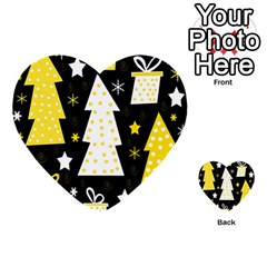 Yellow Playful Xmas Multi Purpose Cards (heart)  by Valentinaart