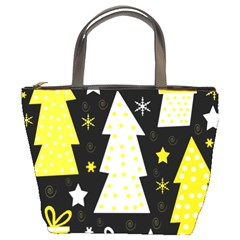 Yellow Playful Xmas Bucket Bags by Valentinaart