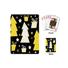 Yellow Playful Xmas Playing Cards (mini)  by Valentinaart