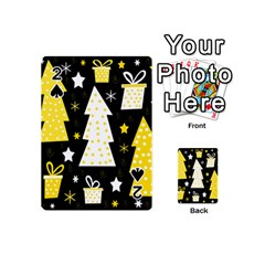 Yellow Playful Xmas Playing Cards 54 (mini)  by Valentinaart
