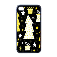 Yellow Playful Xmas Apple Iphone 4 Case (black) by Valentinaart