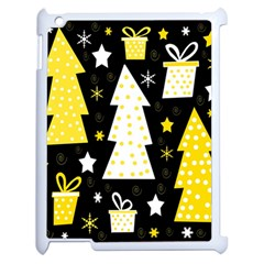 Yellow Playful Xmas Apple Ipad 2 Case (white) by Valentinaart