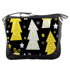 Yellow Playful Xmas Messenger Bags by Valentinaart