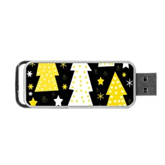 Yellow Playful Xmas Portable Usb Flash (two Sides) by Valentinaart