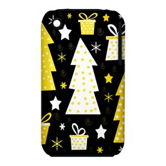 Yellow Playful Xmas Apple Iphone 3g/3gs Hardshell Case (pc+silicone) by Valentinaart