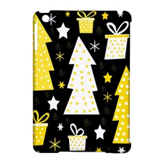 Yellow Playful Xmas Apple Ipad Mini Hardshell Case (compatible With Smart Cover) by Valentinaart
