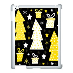Yellow Playful Xmas Apple Ipad 3/4 Case (white) by Valentinaart