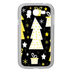 Yellow Playful Xmas Samsung Galaxy Grand Duos I9082 Case (white) by Valentinaart