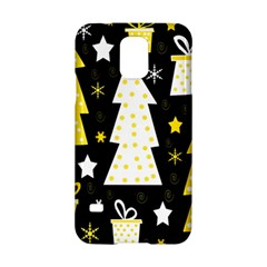 Yellow Playful Xmas Samsung Galaxy S5 Hardshell Case  by Valentinaart