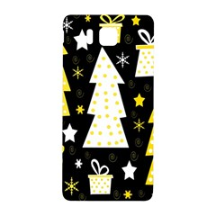 Yellow Playful Xmas Samsung Galaxy Alpha Hardshell Back Case by Valentinaart