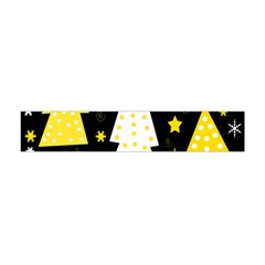 Yellow Playful Xmas Flano Scarf (mini) by Valentinaart