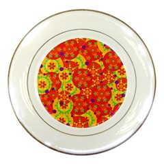 Orange Design Porcelain Plates by Valentinaart