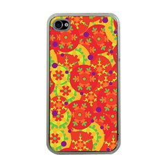Orange Design Apple Iphone 4 Case (clear) by Valentinaart