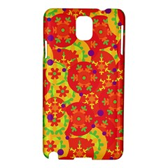 Orange Design Samsung Galaxy Note 3 N9005 Hardshell Case by Valentinaart