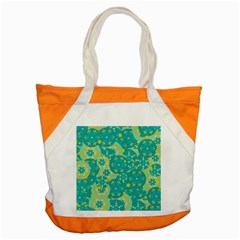 Cyan Design Accent Tote Bag by Valentinaart