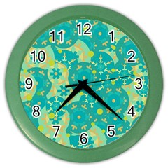 Cyan Design Color Wall Clocks by Valentinaart