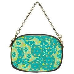 Cyan Design Chain Purses (one Side)  by Valentinaart