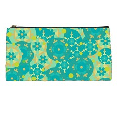 Cyan Design Pencil Cases by Valentinaart