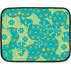 Cyan Design Double Sided Fleece Blanket (mini)  by Valentinaart