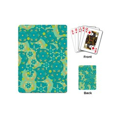 Cyan Design Playing Cards (mini)  by Valentinaart