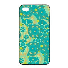 Cyan Design Apple Iphone 4/4s Seamless Case (black) by Valentinaart