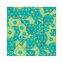 Cyan Design Acrylic Tangram Puzzle (6  X 6 ) by Valentinaart