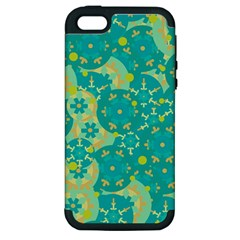 Cyan Design Apple Iphone 5 Hardshell Case (pc+silicone) by Valentinaart