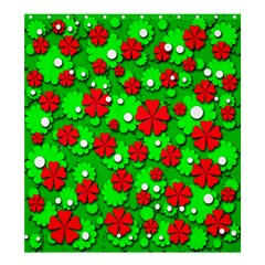 Xmas Flowers Shower Curtain 66  X 72  (large)  by Valentinaart