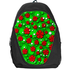 Xmas Flowers Backpack Bag