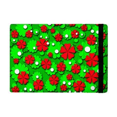 Xmas Flowers Apple Ipad Mini Flip Case by Valentinaart