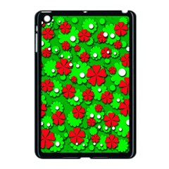 Xmas Flowers Apple Ipad Mini Case (black) by Valentinaart