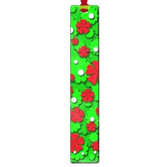 Xmas Flowers Large Book Marks by Valentinaart